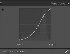 แต่งภาพ Lightroom โดย Tone Curve