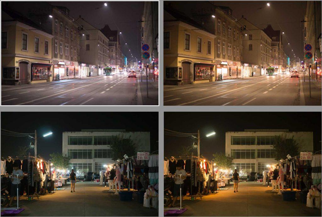ใช้ White Balance ในกลุ่มสีร้อนช่วยให้การแต่งภาพ Lightroom กลางคืน ดูสว่างยิ่งขึ้น