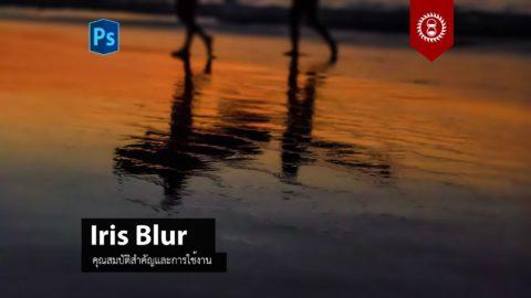 การใช้งานฟิลเตอร์ Iris Blur
